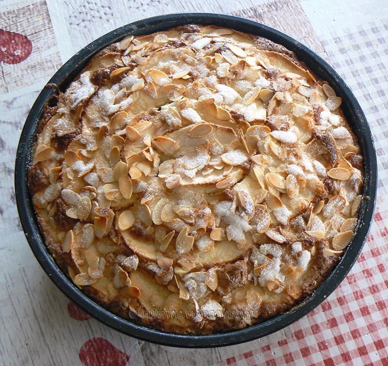 Eplekake – Gâteau aux pommes norvégien fin
