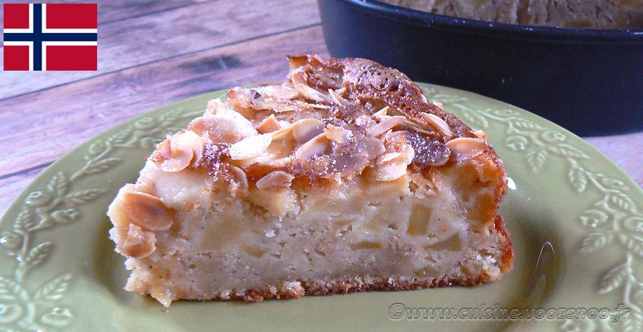 Eplekake - Gâteau aux pommes norvégien slider
