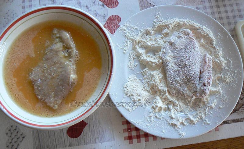 Kotlety Schabowy, porc pané polonais etape1