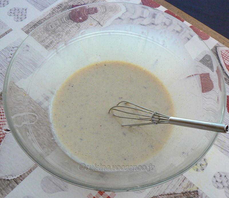 Glace à la vanille et au lait concentré sucré etape1