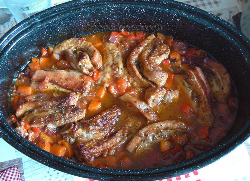 Tendrons de veau sautés aux carottes fin