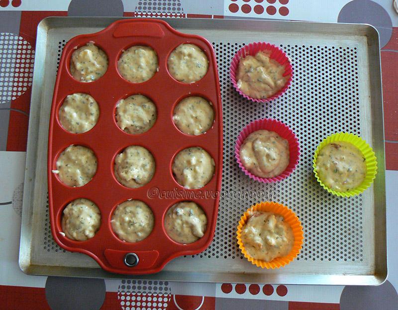 Mini-muffins au chèvre, tomates séchées et parmesan etape3