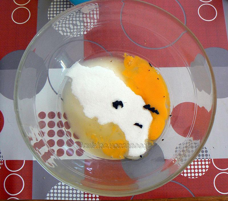 Cake rétro à la vanille etape1