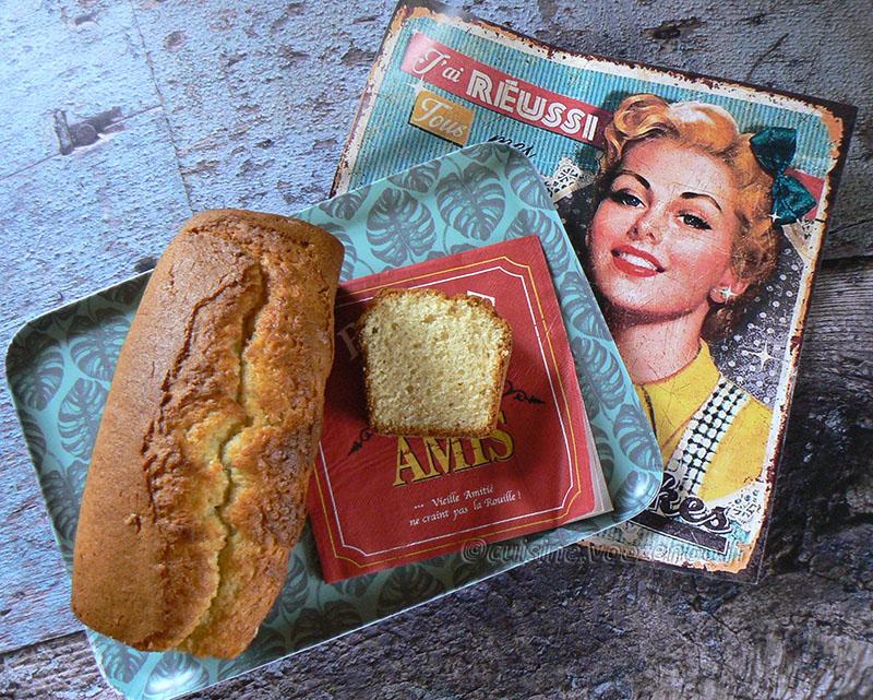 Cake rétro à la vanille presentation
