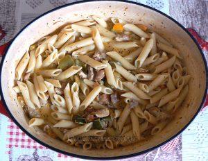 Creamy Chicken Fajita Pasta fin