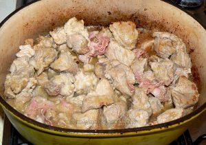 Sauté de veau corse aux olives et panzetta etape4