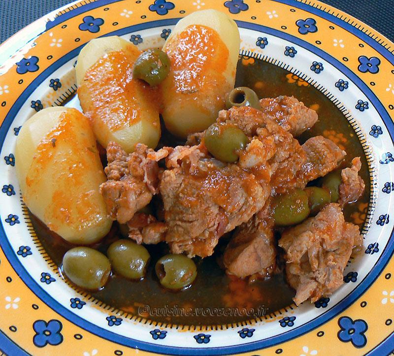 Sauté de veau corse aux olives et panzetta fin2