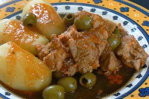 Sauté de veau corse aux olives et panzetta