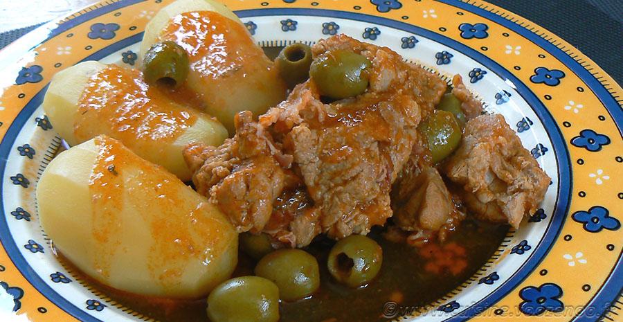 Sauté de veau corse aux olives et panzetta slider