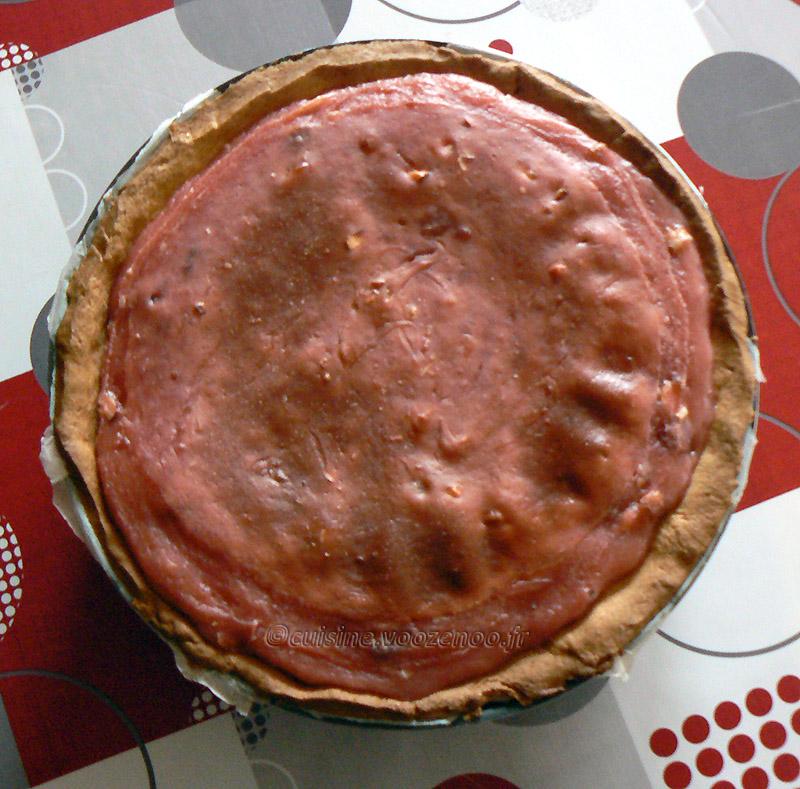 Flan pâtissier aux pralines roses et fleur d'oranger fin